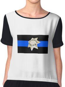 San Francisco Police Thin Blue Line Chiffon Top