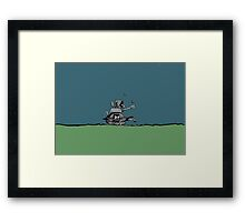 War-Turtle Framed Print