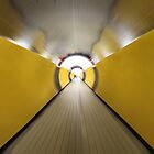 Brunkeberger yellow tunnel in Stockholm, Sweden by E ROS