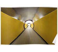 Brunkeberger yellow tunnel in Stockholm, Sweden Poster