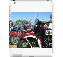 Vintage Motorcycles At Rest iPad Case/Skin