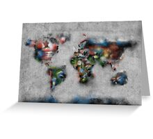 world map flags 4 Greeting Card