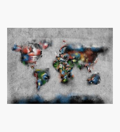world map flags 4 Photographic Print