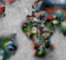 world map flags 4 Sticker
