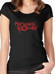 The Cool My Chemical Romance Logo Women's Fitted Scoop T-Shirt