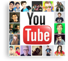 Youtuber Collage Canvas Print