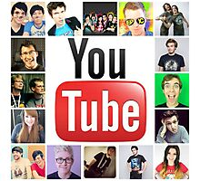Youtuber Collage Photographic Print
