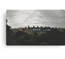 When the night falls on Auld Reekie Canvas Print