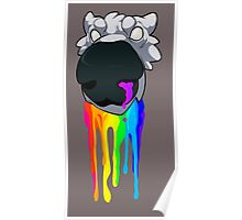 Rainbow Drooling Canine Poster