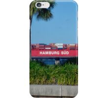 Cargo Ship in Charleston Harbour iPhone Case/Skin