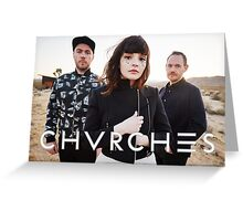 CHVRCHES Band Poster New Album Greeting Card