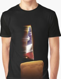 American Flag Candle Graphic T-Shirt