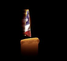 American Flag Candle by Buckwhite