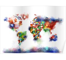 world map flags 5 Poster