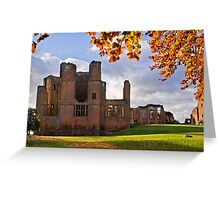 Autumn at Kenilworth Castle Greeting Card