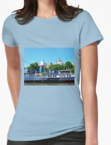 Boat on the River Thames London Womens Fitted T-Shirt