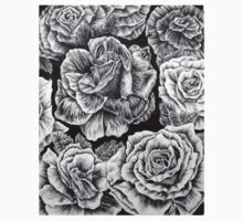 Black and White Roses Kids Clothes