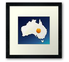 Fried Egg Cartography - Australia 2 Framed Print