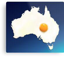 Fried Egg Cartography - Australia 2 Metal Print