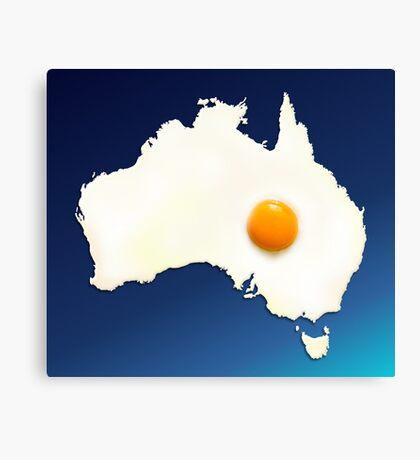 Fried Egg Cartography - Australia 2 Canvas Print