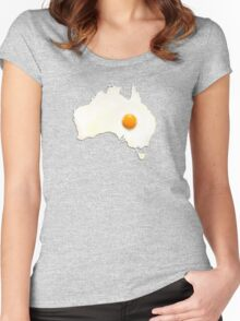 Fried Egg Cartography - Australia 2 Women's Fitted Scoop T-Shirt