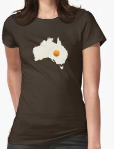Fried Egg Cartography - Australia 2 Womens Fitted T-Shirt