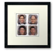 Seinfeld Characters Framed Print