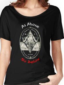 Pagan Alchemy Illuminati - As Above So Below Women's Relaxed Fit T-Shirt