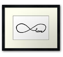 Love is Infinite. Framed Print