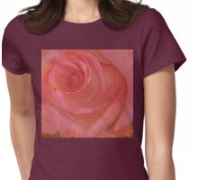 Big Pink Rose Womens Fitted T-Shirt