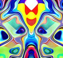 Abstract Pop Art Faces Sticker