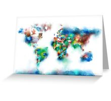 world map flags 6 Greeting Card