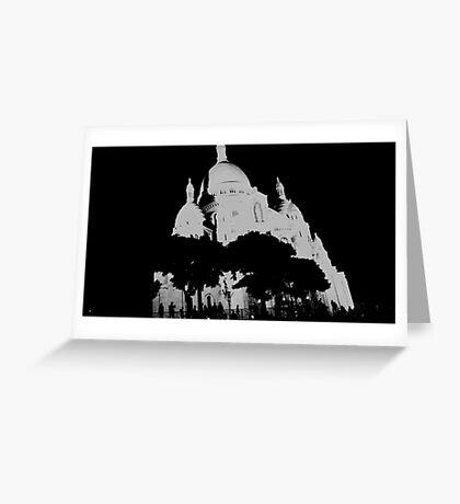 Sacré-Coeur - La Basilique du Sacré Cœur de Montmartre Greeting Card