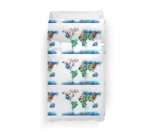 world map flags 6 Duvet Cover