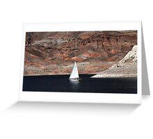 On Lake Mead Greeting Card