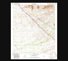 USGS TOPO Map Arizona AZ Superstition Mts SW 313617 1956 24000 Unisex T-Shirt