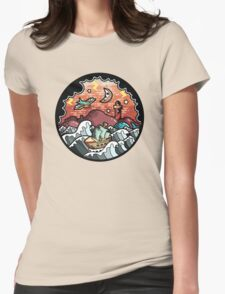 Oldschool storm landscape Womens Fitted T-Shirt