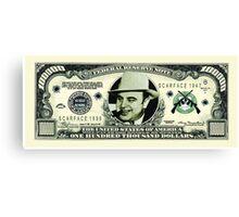 Al Capone Dollar Canvas Print