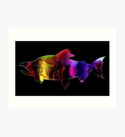 Multi-Colored Salmon Art Print