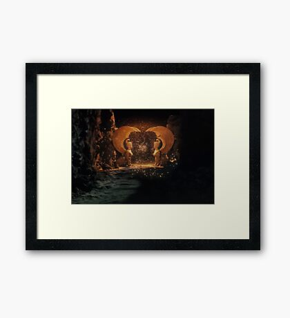 The NeverEnding Story - Sphinxes Gate Dots Framed Print