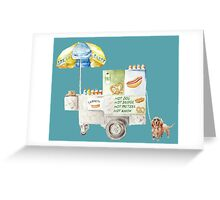 Get Your New York Hot Dogs Here! Greeting Card