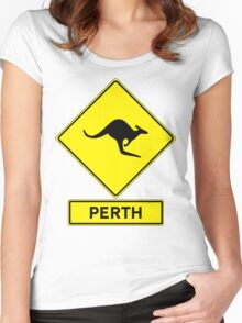 Perth, Western Australia - Kangaroos Gone Wild Women's Fitted Scoop T-Shirt