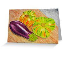 Vibrant Vegetable Still Life Greeting Card
