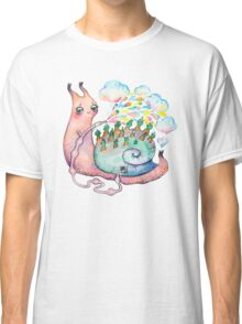 Rainbow snail watering the garden Classic T-Shirt