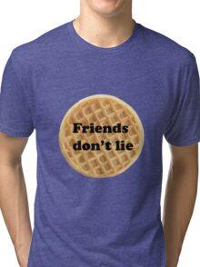 FRIENDS DON'T LIE- stranger things Tri-blend T-Shirt