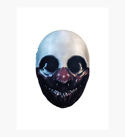 Payday 2 Wolf Mask Photographic Print