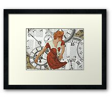 Caught in The Undertow Of Time.. Framed Print