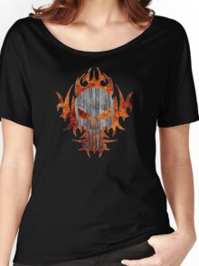 Punisher Fire Steel Women's Relaxed Fit T-Shirt