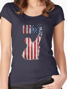 ROCKY BOXING - FLAG VINTAGE Women's Fitted Scoop T-Shirt