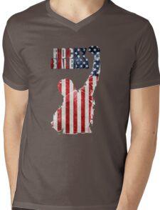 ROCKY BOXING - FLAG VINTAGE Mens V-Neck T-Shirt
